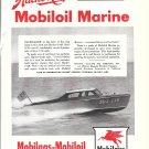 1945 Mobiloil Marine Ad- Nice Photo of Hacker- Craft 25' Boat