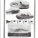 1945 WW II John Trumpy & Sons Yachts Ad- Nice Photo of 3 War Boats