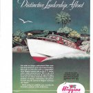1945 Higgins P.T. Junior Sedan Boat Color Ad- Nice Drawing
