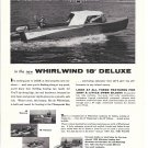 1958 Whirlwind 18' Deluxe Boat Ad- Great Photo