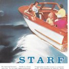 1958 Evinrude Starflite V-4 50 HP. Outboard Motor 2 Page Color Ad-Nice Photo