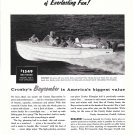 1958 Crosby Baycomber Boat Ad- Nice Photo
