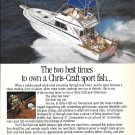 1986 Chris- Craft Boats Color Ad- Nice Photo