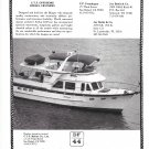 1986 DeFever 44' Diesel Cruiser Boat Ad- Nice Photo