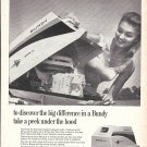 1962 Bundy Marine 500cc Outboard Motor Ad- Nice Photo- Hot Girl