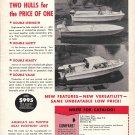1963 Atlanta Boat Works Ad- Photo of 3 Aristo-Craft Boats