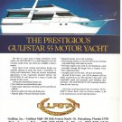 1986 Gulfstar 55 Motor Yacht Color Ad- Nice Drawing