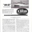 "1953 Z Spar Marine Finishes Ad-Nice Photo Chris- Craft 52' ""An-Ge"""