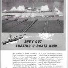 1943 WW II Anaconda Copper Ad- Nice Photo War Boat PC573