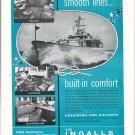 "1955 Ingalls Shipbuilding Corp Ad- Nice Photos ""Rhonda III"""