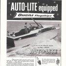 1955 Auto- Lite Spark Plugs Ad-Nice Photo Owens 26' Sedan Yacht