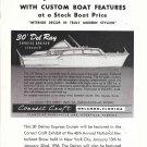 1955 Correct Craft Boats Ad- Nice Drawing 30' Del Ray