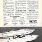 1976 Corsa Boats Ad- Nice Photo of 2 Models