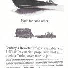 1962 Century Resorter 17' Boat Ad- Nice Photo
