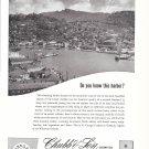 1957 Chubb Insurance Ad- Great Photo St. George, Grenada