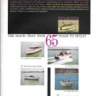 1960 Owns Yacht Co Color Ad- Photo of 4 Models