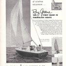 1960 Ray Greene Sailboats Ad- Photos of 4 Models