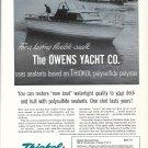 1960 Thiokol Chemical Ad- Nice Photo Owens Yacht