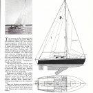 1960 Cyrus Hamlin Vagabond 21' Sailboat Review & Specs- Photo & Drawings