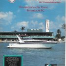 1987 Thunderbird Formula 35 PC Boat Color Ad- Nice Photo