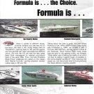 2000 Formula Racing Boats 2 Page Color Ad- Photos of 8 Models