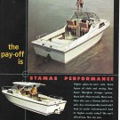 1971 Stamas Boats Color Ad- Photo of V-21 Apollo & V-24 Clearwater