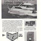 1968 Cruisair Air Conditioners Ad- Nice Photo Colonial 45 Cruider Yacht