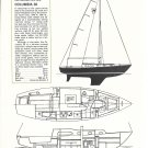 1968 Columbia 36 Yacht Review & Specs- Drawings