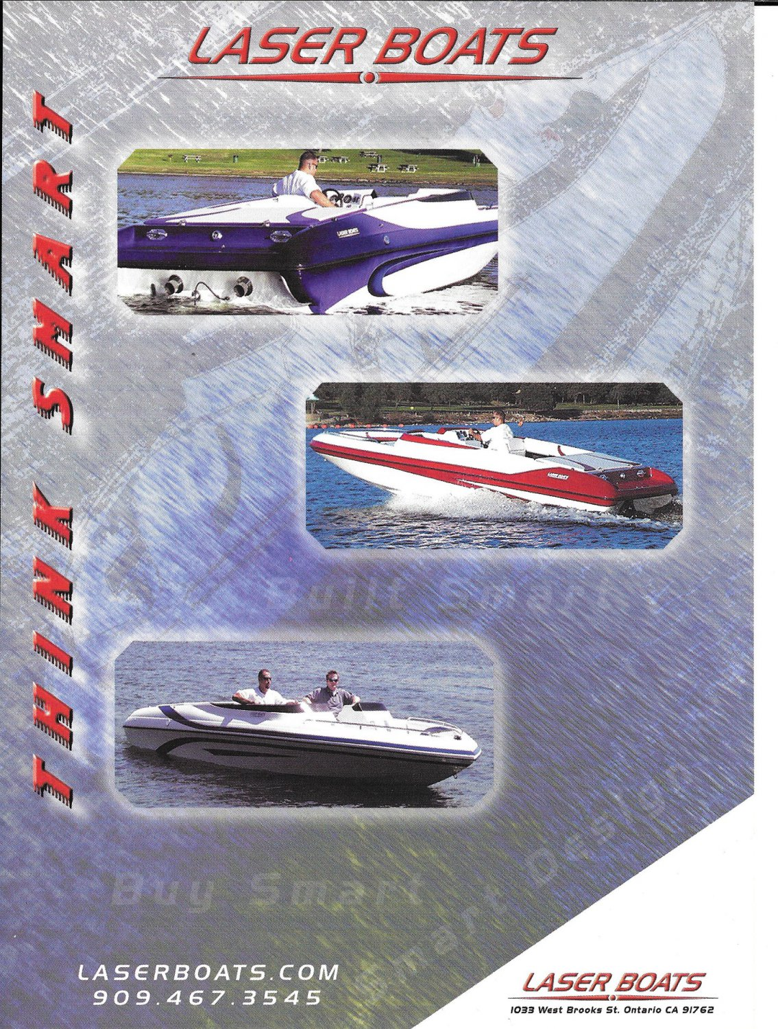 2002 Laser Boats Color Ad- Nice Photo of 3 Models