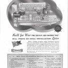 1944 Kermath Marine Engines Ad- Drawing of 250 HP Sea Raider Six