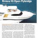 2010 Riviera 45 Open Flybridge Yacht Review- Specs & Nice Photos