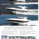 2011 Riviera Flybridge & Sport Yachts Color Ad- Photos of 3 Models