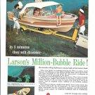 1962 Larson All- American 176 Boat Color Ad- Nice Photo