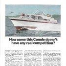1967 Chris- Craft 35' Sea Hawk Yacht 2 Page Color Ad- Nice Photos