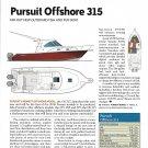 2007 Pursuit Offshore 315 Yacht Review & Specs- Drawing