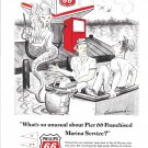 1962 Phillips 66 Ad- Nice Drawing of Hot Mermaid