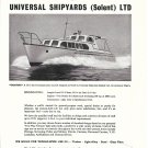 "1960 Universal Shipyards LTD Ad- Nice photo of 35' Yacht ""Emandex"""