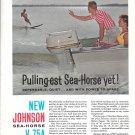 1961 Johnson Sea- Horse V-75A HP Outboard Motors Color Ad-Nice Photo