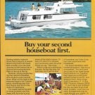 1973 Kings Craft Houseboat Color Ad- Nice Photo