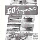 1949 Gray Marine Motor Co 2 Page Ad- Photos of 16 New Boats