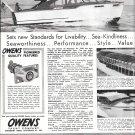 1949 Owens 33 Flagship Yacht Ad- Nice Photo