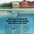 1977 Chrysler 65 HP Outboard Motor Color Ad- Nice Photo- Hot Girl