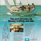 1982 Chrysler Marine 26' Sailboat Color Ad- Nice Photo