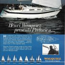 1982 Henri Wauquiez Pretorien Yacht Color Ad- Nice Photo