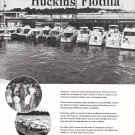 1970 Huckins Fairform Flyer Yachts Ad- Nice Photo of Flotilla