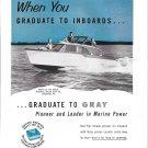 1956 Gray Marine Motor Co Ad- Nice Photo of Trojan 25 Sea Breeze Boat
