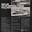 1969 Nauta- Line Houseboats Ad- Photo of 34 & 43' Models