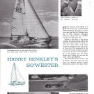 1969 Henry Hinckley Sou' Wester Yacht 2 Page Ad- Great Photos