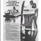 1972 Johnson Sea- Horse 125 Outboard Motor Ad- Nice Photo Hydroplane & Hot Girl
