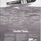 "1972 Champion Spark Plugs Ad- Nice Photo Magnum 33' Boat ""Hustler IV"""